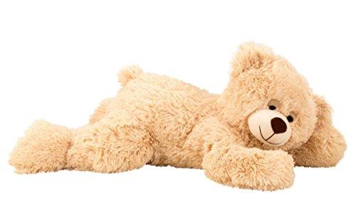 Teddybär Schlafbär liegend 60 cm Hellbraun Kuscheltier