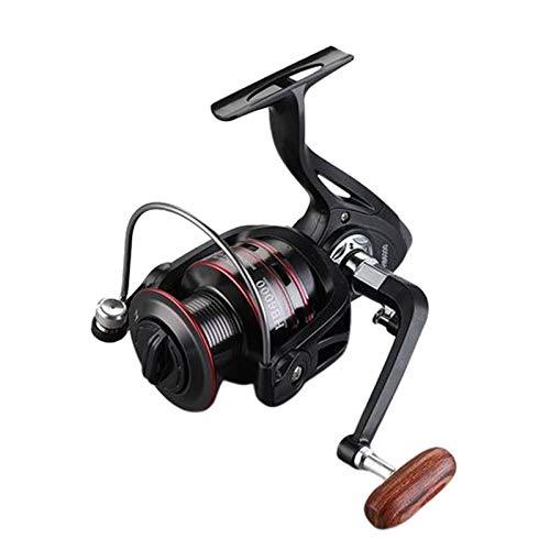 N/A/a Carrete de Pesca de Agua Dulce Carrete Giratorio Ligero Carrete de Pesca de Agua Salada con Mango de Madera - HB6000