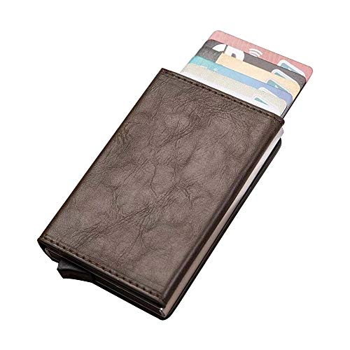 Hanks' Shop Karten-Paket charismatisches Beutel-Multifunktionsaluminium Automatonlike Pop-up-Kreditkarte-Paket (Schwarz) (Color : Coffee)