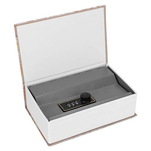 Caja de seguridad, caja fuerte para libros, acero inoxidable para colección de...