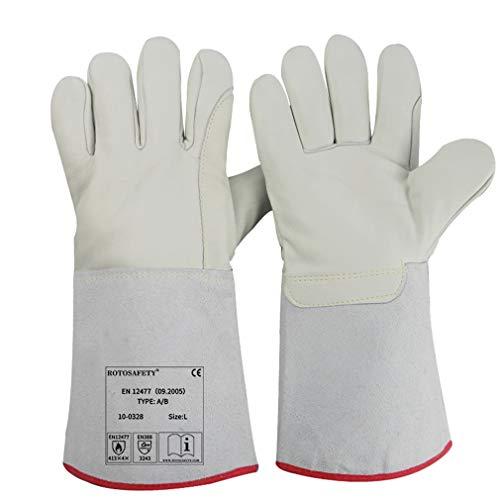 Lange Kryogenische Handschuhe flüssiger Stickstoff Schutzhandschuhe wasserdicht bei niedriger Temperatur Kälte Lagerung Frozen Sicherheit Arbeitshandschuhe, 35cm, grau, 1