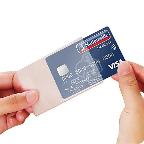 Everstars カードケース(15枚) カード 保護 ケース プロテクタ 透明 磁気防止 マットな質感 薄型 防水 防磁 ビニール IDカードケース 防水・防磁対策 クレジットカードケース シンプル デザイン 各種カード フィルム 磁気防止 ポイント
