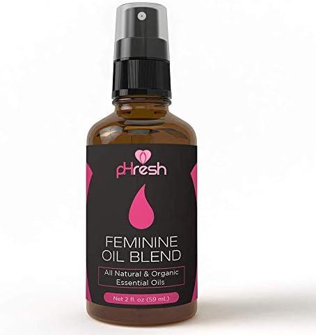 pHresh All Natural Feminine Spray – Supports Symptoms of Odor, Itch & Irritation!   100% Yoni All-Oil Blend Made with Tea Tree, Lemongrass, and Orange Essential Oils   2 oz. Spray