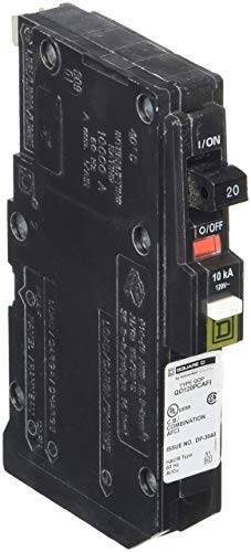 Square D by Schneider Electric QO120PCAFI  20-Amp Single-Pole Plug-On Neutral CAFCI Circuit Breaker (Renewed)