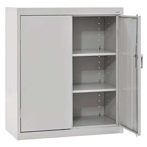 SANDUSKY LEE CA21362442-05 Classic Series Counter Height Cabinet with Adjustable Shelves, Steel, 42' Height, 36' Width, 24' Length, Dove Gray