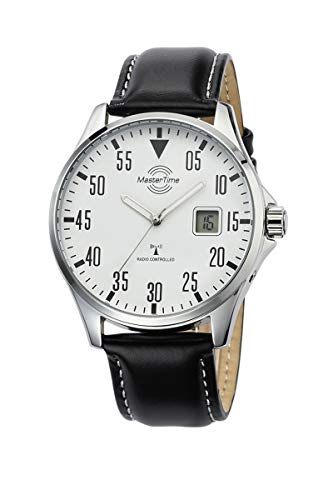 Master Time Funk Quarz Herren Uhr Analog mit digitalem Datum mit Leder Armband MTGA-10686-10L