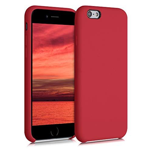 kwmobile Cover per Apple iPhone 6 / 6S - Custodia in Silicone TPU - Back Case Protezione Cellulare Rosso Acceso