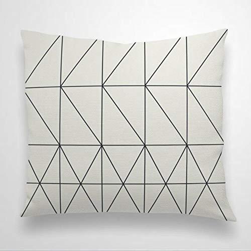 EricauBird Funda de almohada moderna con diseño geométrico de flecha de chevrón, diseño personalizado, decoración de sala de estar, funda de cojín cuadrada de lino para decoración del hogar