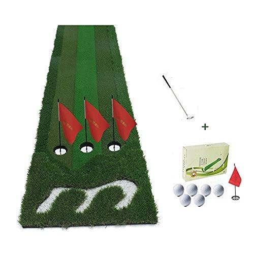 WBJLG Golf Putting Mats, 300 70cm 3-Speed Grass Golf Mat, Portable Indoor Office and Outdoor Golf Practice Mat