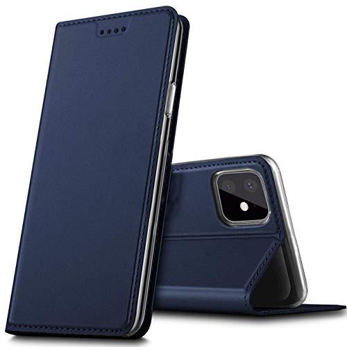 Verco Handyhülle für iPhone 11, Premium Handy Flip Cover für Apple iPhone 11 Hülle [integr. Magnet] Book Hülle PU Leder Tasche (6,1 Zoll), Blau