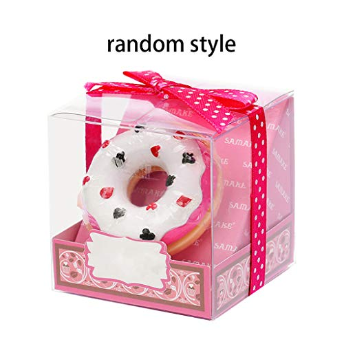 ZChun Creatieve, leuke bonte donut-vorm lippenbalsem, schattige meisjesdonut, die duurzame kleurloze voedzame anti-splijt-lippenstift bevochtigt