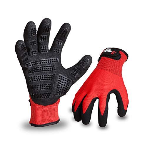 3-spirits® Fellpflege-Handschuhe für Hunde, Pferde, Katzen und andere Tiere (9/L)