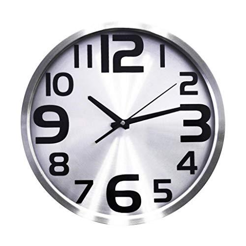 GZQDX Moderno Reloj de Pared silencioso Que no Hace tictac, Decorativo for Cocina, Sala de Estar, Dormitorio, Baño, Dormitorio, Oficina