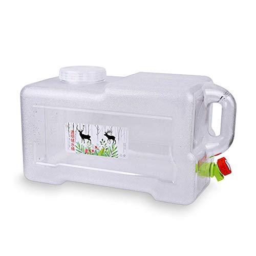 Gnohnay 18L Cubo de Agua con Grifo y Asa, Contenedor de Agua Portátil para Acampar, Cubo de Botella de Agua Potable para Acampar, Senderismo, Recorrido Sin Conductor