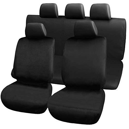 PrimeMatik - Zwarte stoelhoezen. Beschermhoezen universeel voor 5 autostoelen
