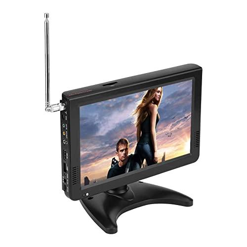 Acogedor 10 inch Portable HDMI Small TV, ATSC Car Digital TV, 1080P Stereo High Sensitivity Digital Tuner with FM Radio, USB/SD/VGA/MMC Card Slot, Built-in Rechargeable Battery