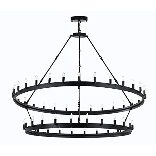 Wrought Iron Vintage Barn Metal Castile Chandelier Chandeliers Industrial Loft Rustic Lighting Great for The Living Room, Dining Room, Foyer and Entryway, Family Room, and More!
