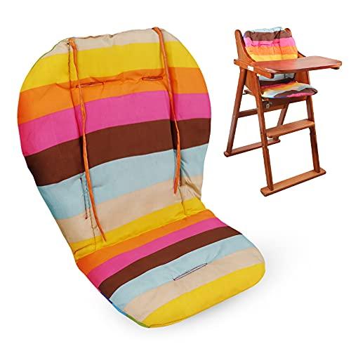 Cuscino Seggiolone Universale,cuscino Per Seggiolone, Fodere E Cuscini Traspiranti Per Seggiolone, Comoda Fodera Per Seggiolino Per Passeggino, Adatto Per Seggioloni E Passeggini (arcobaleno)