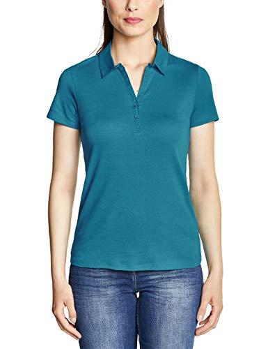 CECIL Damen 313337 T-Shirt per pack Türkis (cool lagoon blue 11813), Small (Herstellergröße:S)