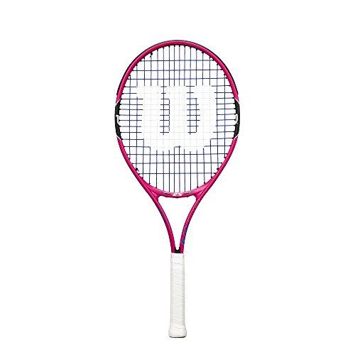 Wilson, Raqueta de tenis para niños, Burn Pink 21, Rosa/Negro, Para niños con altura de 100 a 115 cm