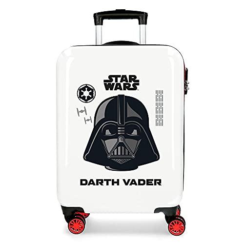Star Wars Darth Vader Maleta de Cabina Blanca 38x55x20 cms Rígida ABS Cierre de combinación Lateral 34L 2 kgs 4 Ruedas Dobles Equipaje de Mano
