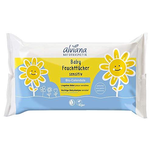 Alviana Naturkosmetik Baby Feuchttücher sensitiv 48 Stück