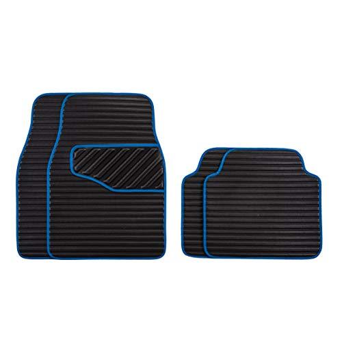Eono by Amazon Juego de 4 alfombrillas universales de piel para coche, delanteras y traseras, aptas
