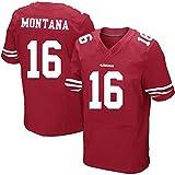 メンズNFLジャージーサンフランシスコ49ers 80#53#28#13#エリート版刺繍アメリカンフットボールジャージー半袖スポーツトップTシャツ,16-red,M
