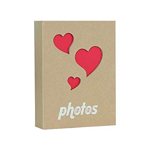 Lidiper Álbum de Fotos, 10x15cm/100 Hojas Kraft Hueco Album Fotos Álbumes de Fotos con Bolsillo para Bebés, Niñas, Mujeres, Niños