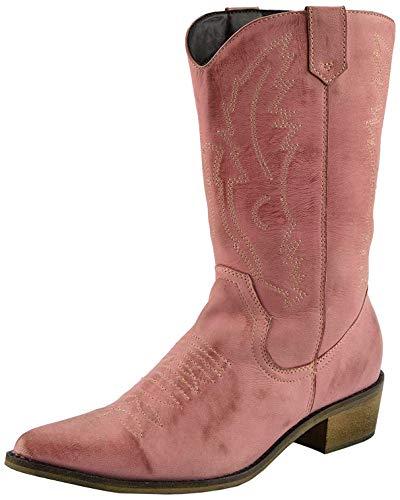 Kick Footwear , Damen Cowboy stiefel , Pink - rose - Größe: 42 2/3