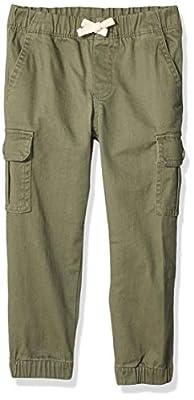 Amazon Essentials Boy's Cargo Pants, Olive, Medium