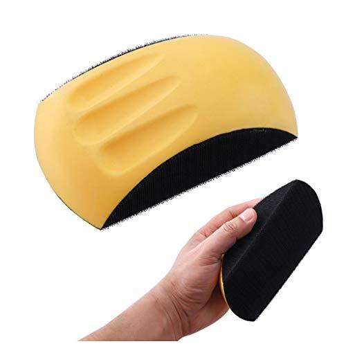 Bascar Professional Polishing Tools 6 Inch Hand Sanding Pad Flocking Sandpaper Sticky Disk Polishing Polishing Soft Rubber Ergonomic Design 86 mm x 150 mm