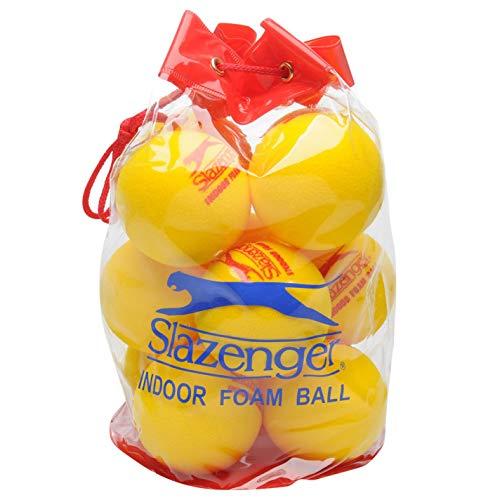 Slazenger Pelota unisex de espuma para interior de tenis, color amarillo, talla...