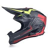 JWL Motorradhelm, Mit Handschuhe/Maske/Brille, Motocross Helm/Enduro Downhill Helm, Herren/Damen Full Face MTB Helm