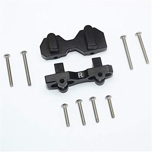 ETbotu accessoires voor auto RC-upgrade, TRAXXAS 1/7 onbeperkt Desert Racer aluminium legering rolluiken vooraan 1 paar zwart.
