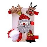 YILONG Clip 5PCS / Set Bambini Albero di Natale dei Capelli Della forcella Artiglio Bambini del pupazzo di Neve di Santa Partito Club copricapo Fascia per Capelli