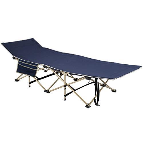 AllRight Campingbett Feldbetten Campingbett XXL Klappbar 190 x 66 x 35cm Metallrohr 250kg Belastbar für Outdoor Garten Innen