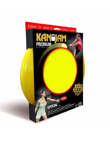 "Kan Jam Premium Flying Disc Original Disc Throwing Game 11"" Disc Multiple Colors yellow"