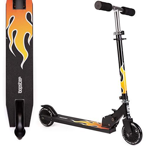 bopster 2 Wheeled Folding Children's Kick Scooter – Flame