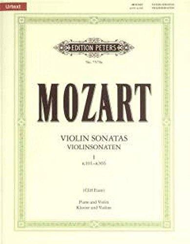 EDITION PETERS MOZART W.A. - VIOLIN SONATAS VOL.1 K301-306 - VIOLIN AND PIANO Klassische Noten Violine