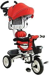 HOMCOM Triciclo Bebé Plegable 4 en 1