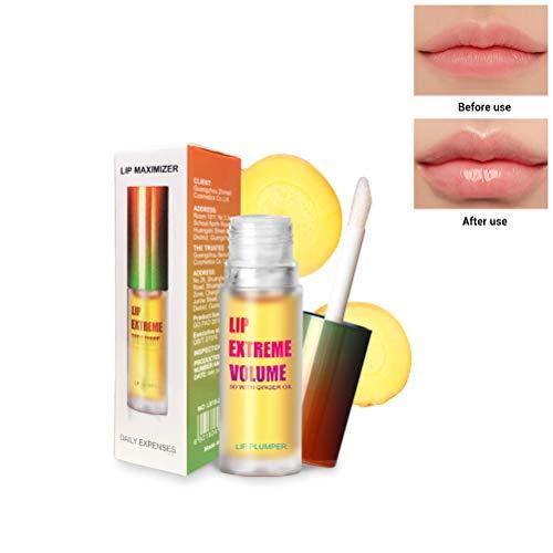 Lip Plumper Gloss - Sexy Lips Injecteur de Lèvres - Lipgloss repulpant bio pour lèvres plus pulpeuses et hydratées, rehausseur de lèvres naturel, hydrate