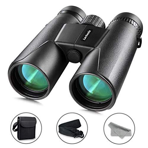Fernglas 12x42 HD Kompakte, Lachesis Ferngläser Wasserdicht mit Nachtsicht für Vogelbeobachtung, Wandern, Jagd, Sightseeing, FMC-Linse Feldstecher inkl. Tragetasche, Tragegurt, Säuberungstuch