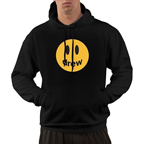 wocao Justin Bieber Drew Hoodies for Men's,Men's Cotton Sleeve Hooded Sweater