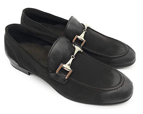 other brands - Mocasines de Cuero para Hombre Negro Negro
