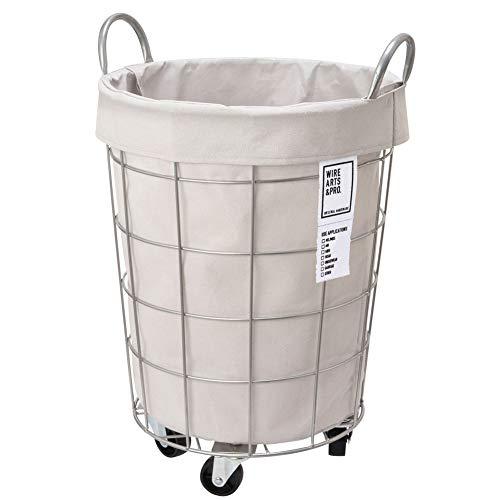 BRID laundry ROUND BASKET WITH CASTER [ ライトグレー / 33L キャスター付き ] ランドリー ラウンド バスケット