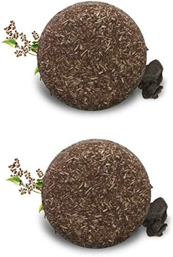 2 Barras de champú sólido para oscurecer el Cabello, champú y acondicionador hidratante para Dar Volumen al Cabello orgánico Que oscurece Natural