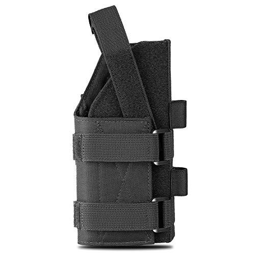 CIJK Funda, Funda De Pistola para Cinturón para Pistola Universal Beretta Revolver Glock 1911 17 92 96 Bolsa De Escopeta Airsoft,Negro