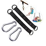 Tree Swing Hanging Strap - 9.4in Swing Straps Outdoor Suspension Accessories Kit, Holds 2200lbs with Stainless Carabiners, for Baby/Garden/Toddler Swing Sets, Web Swings, Hammock & Tire Swing(24cm)