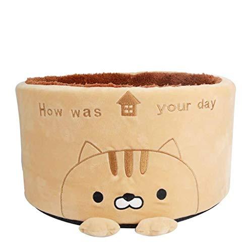 DAJIANG Cama para gato para mascota, caseta de caseta con nido extraíble para mascotas, sofá de felpa, cálido, redondo, para perro, sofá, casa, cojín para gatos y mascotas